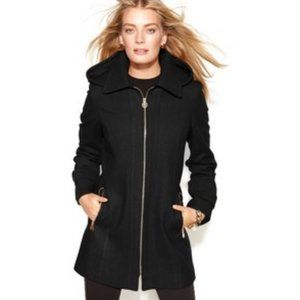 Michael Kors Hooded Trench with Gold Detail, Small